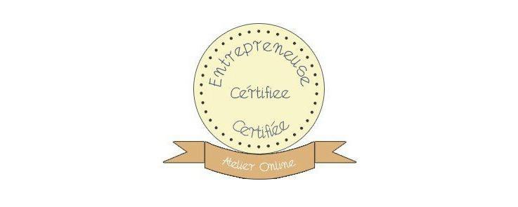 Entrepreneuse certifiée