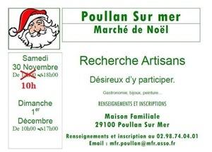 Marché Noël Poullan-sur-Mer