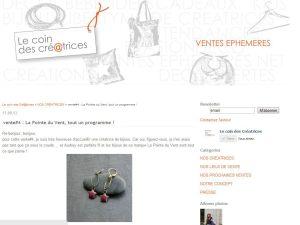 publication blog, le coin des créatrices, septembre 2013