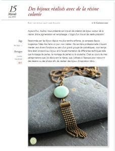 creation bijoux personnalisés article mars 2016